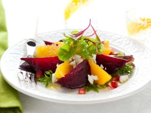 Beetroot, Orange & Goats Cheese Salad