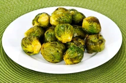 Caramelised Mustard Brussels Sprouts