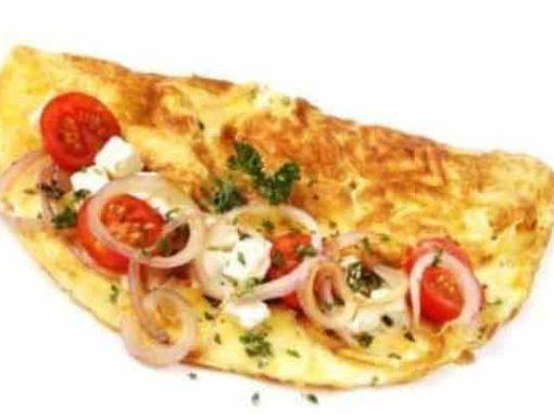 Tomato, Onion & Fetta Omelette
