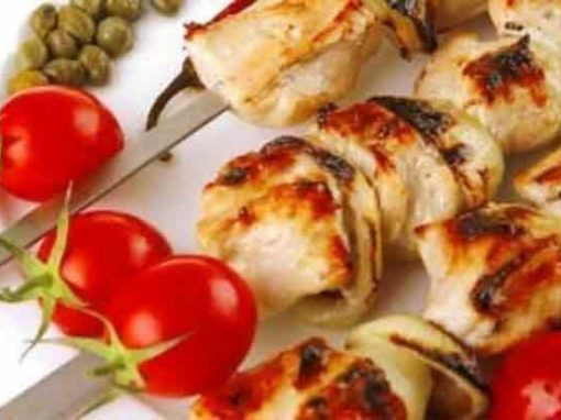 Chilli Lime Chicken Skewers with Capers